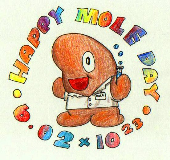 Cute mole day cartoon - photo#28